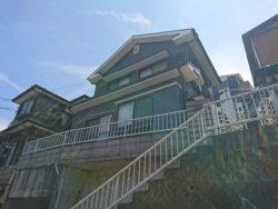 時津町幹線道路にあるコンパクトな家