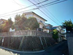 JR道ノ尾駅寄りの百合野団地